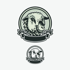 vintage logo modern T-shirt sheep artwork shape
