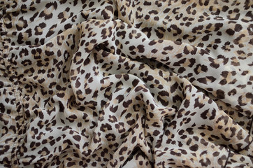 Background of a fabric with a tiger color