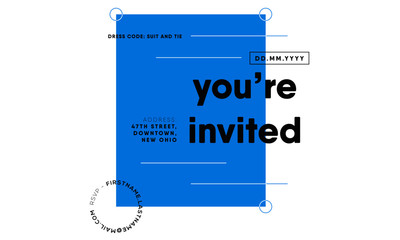 You are invited template. save the date cards. invitation design. vector illustration. eps 10