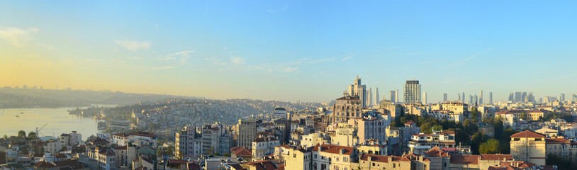 Evening sunset over the roofs of the Turkish capital - Istanbul.
