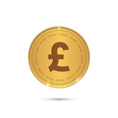 Gold coin with Pound sign