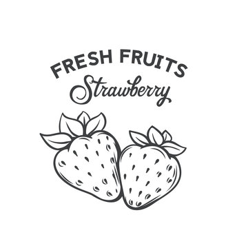 Hand drawn strawberry icon
