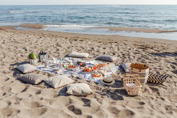 Picnic on the beach Wall mural