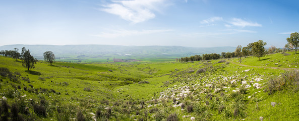 Panoramic view of the Jezreel Valley
