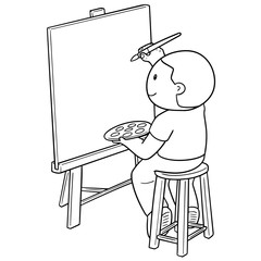 vector of artist