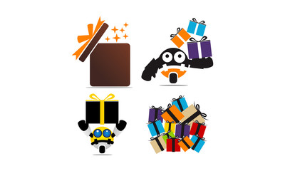 Gifts Vector Template Set
