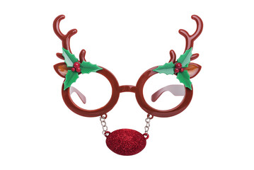 Glasses with the horns of a deer.