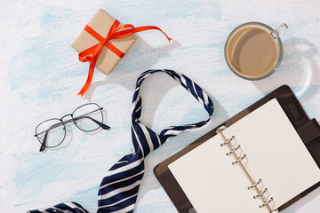 Happy Father's Day. Gift Ideas for Dad with copyspace.