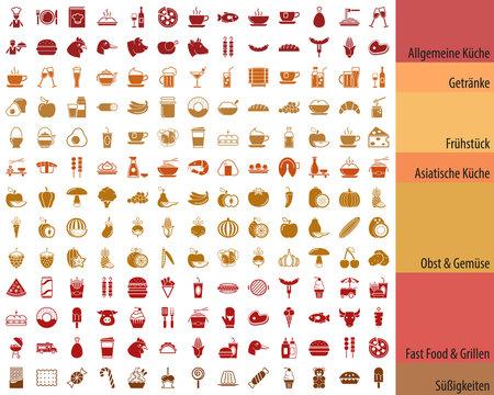 Großes Essen & Getränke Iconset DE