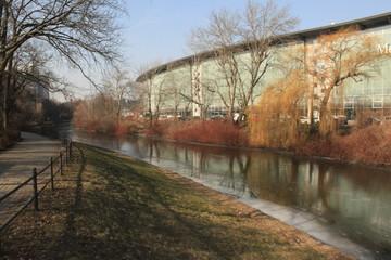 Eiszeit in Berlin; Landwehrkanal am Einsteinufer