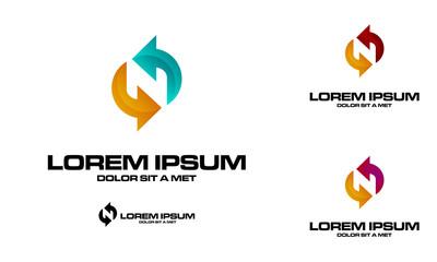 letter n logo icon.letter n logo design template vector illustration