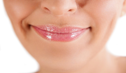 Woman healthy lips