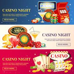 Night Casino Three Horizontal Banners