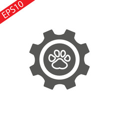 Grunge animal footprint - vector illustration eps 10, flat