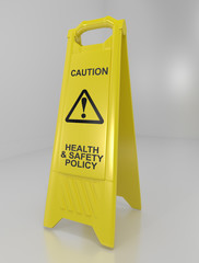 Health and safety policy concept.