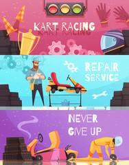 Karting Horizontal Banners Set