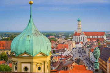 Augsburg, Germany Town Skyline