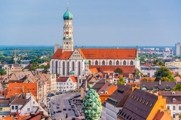 Augsburg, Germany Town Skyline Wall mural