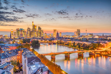 Frankfurt, Germany Skyline Wall mural