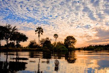 The Zambeze river at sunset, Zambia