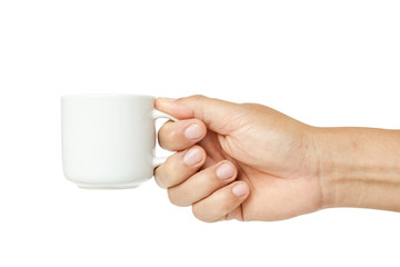 hand holding a coffee