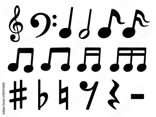 音符のイラストセットfotoliacom の ストック画像とロイヤリティフリー