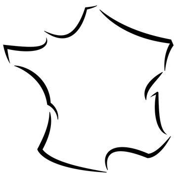 France contour stylisé 01