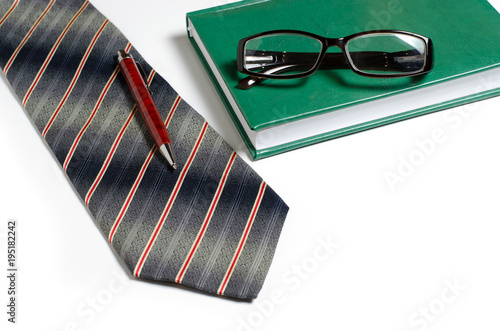 Mens accessories tie green notebook glasses purse business tie green notebook glasses purse business card holder reheart Images