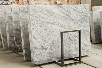 Large marble plates. Uludag white marbles. Real natural marble stone texture and surface background.