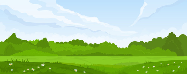 Papiers peints Bleu ciel Rural summer landscape
