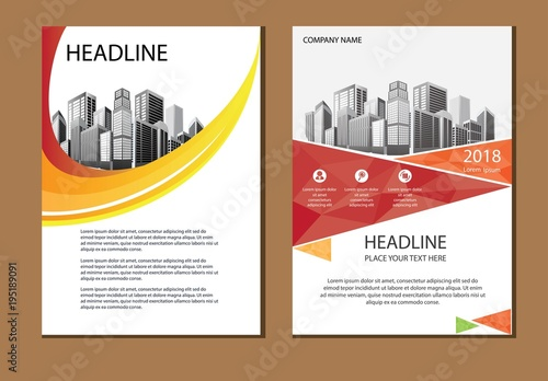 Vector Design Cover Book Brochure Layout Flyer Annual Report