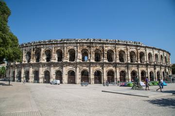 Altstadt und Sehenswürdigkeiten von Nimes, Frankreich