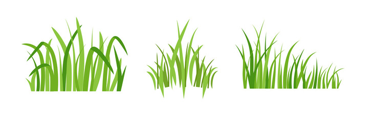 Eco green grass icons