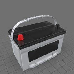 Car battery with handle