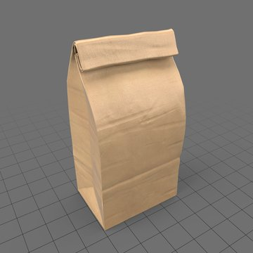 Closed paper grocery bag (small)