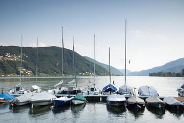Barca sul lago di Lugano