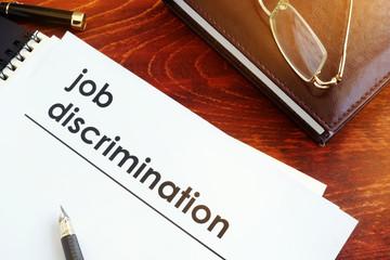 Job discrimination essay