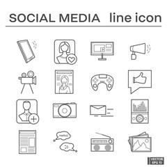 Set of icons, social media.