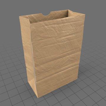 Open paper grocery bag (medium)