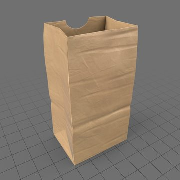 Open paper grocery bag (small)