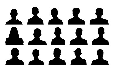 Head silhouettes profile icons