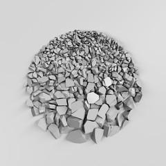 crushed stone circle