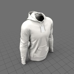 Worn hoodie with tag (mens)