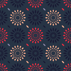 Cosmic rain seamless pattern. Suitable for screen, print and other media.