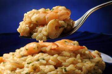 Risotto with shrimps med räkor con gambas gamberi mat Schëffer Frutti di mare Сыра Arroz жыттуу чөп менен