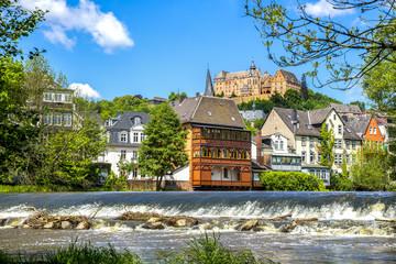 Marburg an der Lahn, Schloss und Lahn