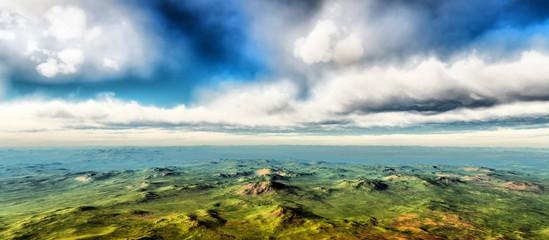 area panorama clouds