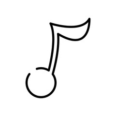 line music note sign to sound rhythm