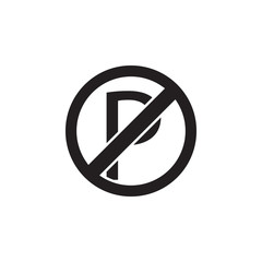 No parking, prohibited sign icon