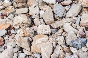 Background of light stones